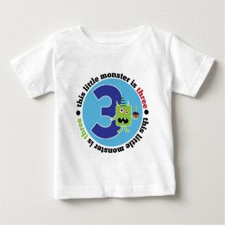 Geburtstags-Monster 3 Baby T-shirt