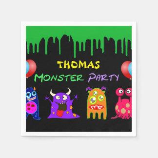 Geburtstags-Monster-Party personalisiert Serviette