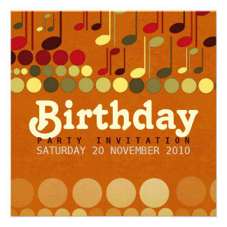 Geburtstags-Musik-Spaß-Einladung