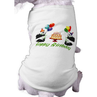 Geburtstags-Pandas Haustierhemden