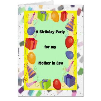 Geburtstags-Partei-Schwiegermutter, festlich Karte