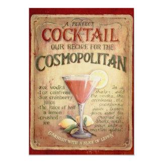 Geburtstags-Party-Cocktail-Einladung 12,7 X 17,8 Cm Einladungskarte