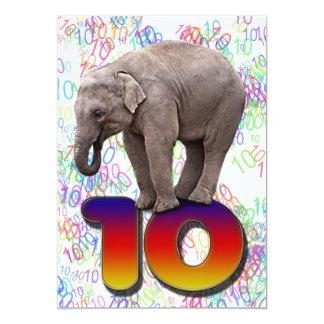 Geburtstags-Party Einladung 10, mit glücklichen
