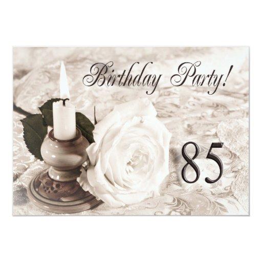 Geburtstags-Party Einladung 85 Jahre alt 12,7 X 17,8 Cm Einladungskarte