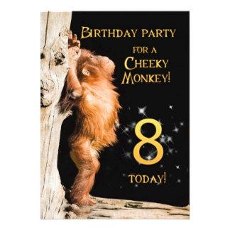 Geburtstags-Party Einladung 8 mit Orang-Utan