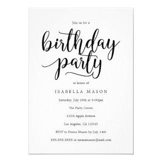 Geburtstags-Party Einladung des