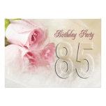 Geburtstags-Party Einladung für 85 Jahre