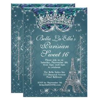 Geburtstags-Party Einladungen Paris Bling