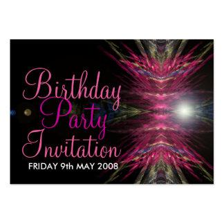 Geburtstags-Party Einladungs-Karte Visitenkarten Vorlagen
