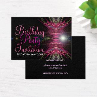 Geburtstags-Party Einladungs-Karte Visitenkarte