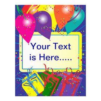 Geburtstags-Party-Entwurf 21,6 X 27,9 Cm Flyer