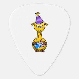 Geburtstags-Party-Giraffe Plektron