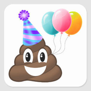 Geburtstag Emoji Aufkleber Zazzle De