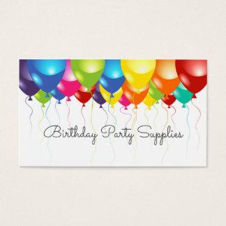 Geburtstags-Party liefert Ballon-Geschäfts-Karte Visitenkarten