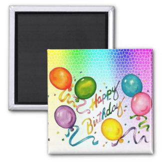 Geburtstags-Party-Magneten Quadratischer Magnet