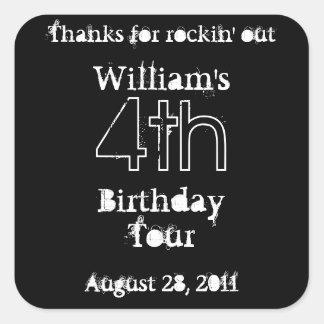 Geburtstags- Party mögen ein rockstar - bevorzug Sticker