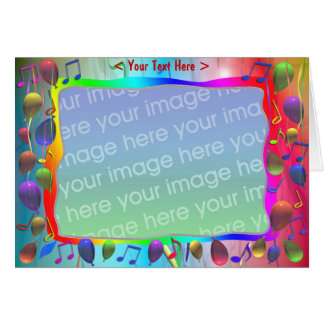 Geburtstags-Party-Musik-Mischung (Fotorahmen) Karte
