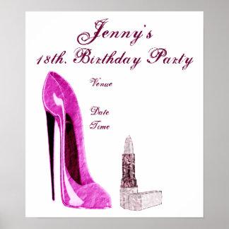 Geburtstags-Party-Plakat Poster