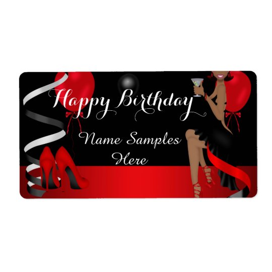 Geburtstags-Party-roter schwarzer Schuh-hoher