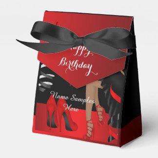Geburtstags-Party-roter schwarzer Schuh-hoher Geschenkschachtel