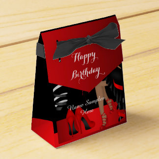 Geburtstags-Party-roter schwarzer Schuh-hoher Geschenkschachteln