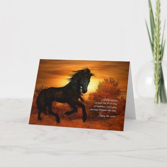 Geburtstags Pferd Im Sonnenuntergang Lustig Karte Zazzle