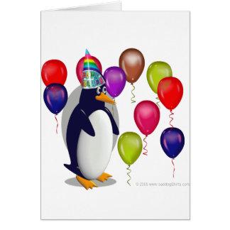 Geburtstags-Pinguin Karte