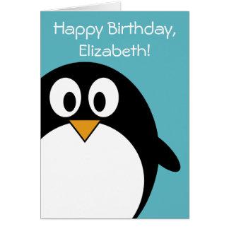 Geburtstags-Pinguin kundengerecht Karte