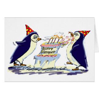 Geburtstags-Pinguine Karte