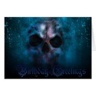 Geburtstags-Schädel Karte