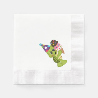 Geburtstags-Schildkröte 1 Papierserviette