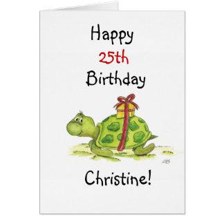 Geburtstags-Schildkröte - fertigen Sie das Alter Grußkarte