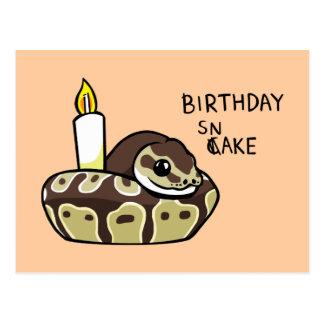 Geburtstags-Schlangen-niedliche Postkarten