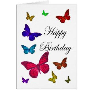 Geburtstags-Schmetterlinge Karte