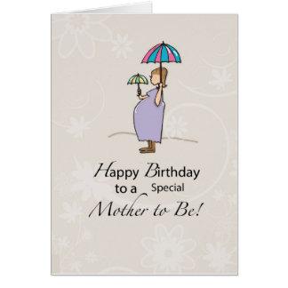 Geburtstags-schwangere Mamma Grußkarte