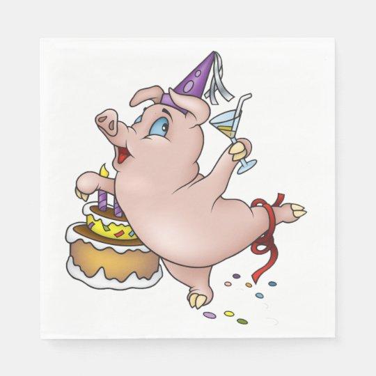 Schwein auf der Wiese L2-25 3 Lunch Papier Servietten Napkins