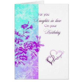 Geburtstags-Schwiegertochter (lila) Karte