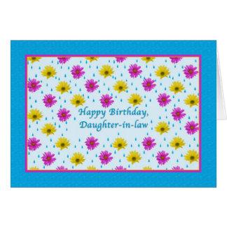 Geburtstags-, Schwiegertochter-, rosa und Karte