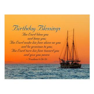 Geburtstags-Segen nummeriert 6 den Lord Bless You Postkarte