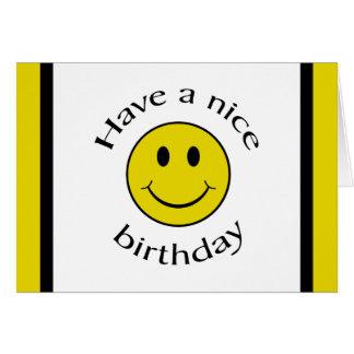 Geburtstags-smiley Karte
