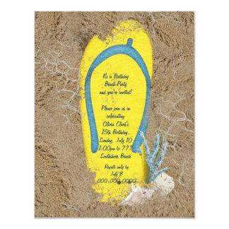 Geburtstags-Strand-Party 10,8 X 14 Cm Einladungskarte