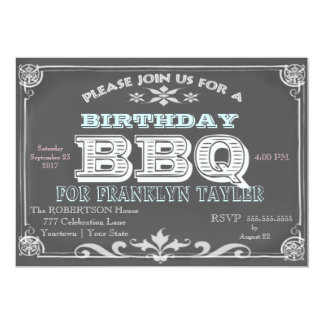 Geburtstags-Tafel GRILLEN 12,7 X 17,8 Cm Einladungskarte