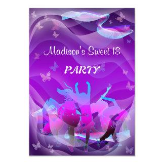 Geburtstags-Tanz-Party 12,7 X 17,8 Cm Einladungskarte