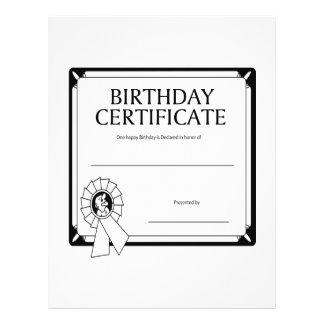 Geburtstags-Zertifikat 21,6 X 27,9 Cm Flyer