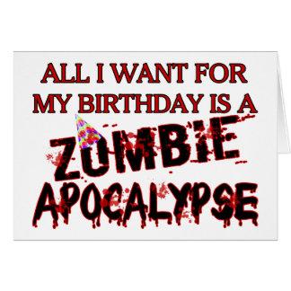 Geburtstags-Zombie-Apokalypse Grußkarte