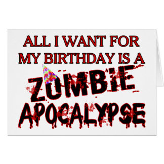 Geburtstags-Zombie-Apokalypse Karten