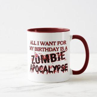 Geburtstags-Zombie-Apokalypse Tasse