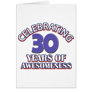 Geburtstagsentwürfe und -geschenke mit 30 Jährigen Karte