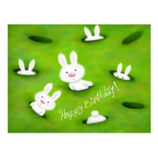 Geburtstagshäschen Postkarte