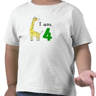 Geburtstagsjunge mit 4-Jährigen/Mädchengeschenk (n Shirts